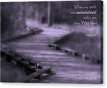 You Knew My Path Canvas Print by Debra Straub