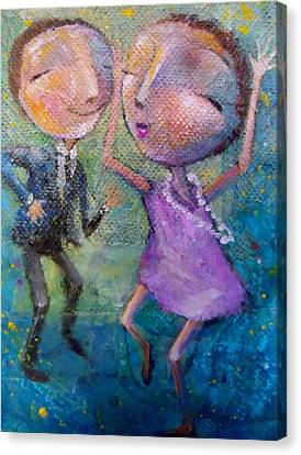 Canvas Print featuring the painting You Make Me Wanna Dance by Eleatta Diver