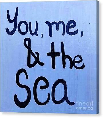 Shoreline Old Men Canvas Print - You Me And The Sea by Scott D Van Osdol