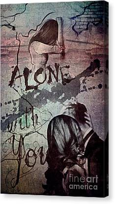 Canvas Print featuring the mixed media You by Mo T
