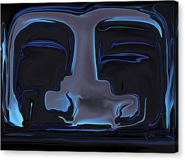 Canvas Print featuring the digital art You N Me by Rabi Khan