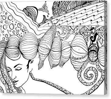 You Were In My Dream Canvas Print by D Renee Wilson