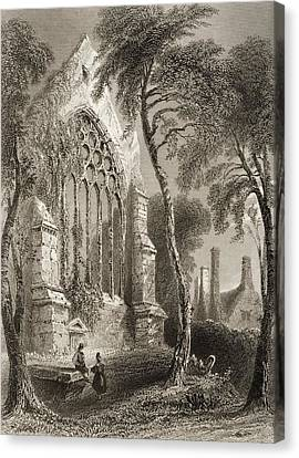 Cork Canvas Print - Youghall Abbey, County Cork, Ireland by Vintage Design Pics