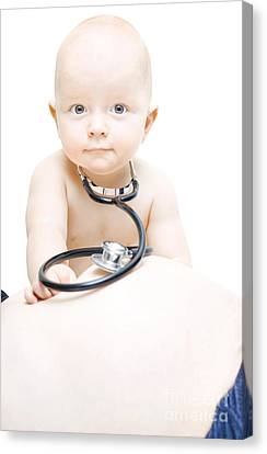 Young Baby Paediatrician Canvas Print