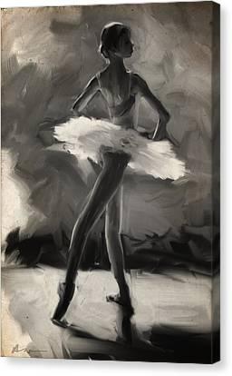 Ballerinas Canvas Print - Young Ballerina by H James Hoff