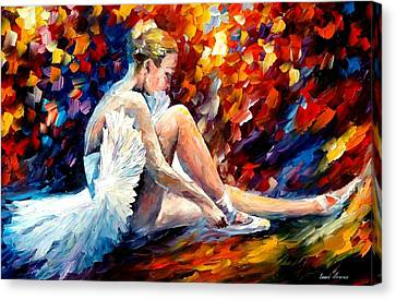 Young Ballerina Canvas Print by Leonid Afremov