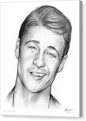 Gordon Canvas Print - Young Ben Mckenzie by Greg Joens