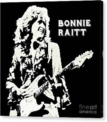 Young Bonnie Raitt Poster Canvas Print by John Malone
