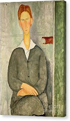 Young Boy With Red Hair Canvas Print by Amedeo Modigliani