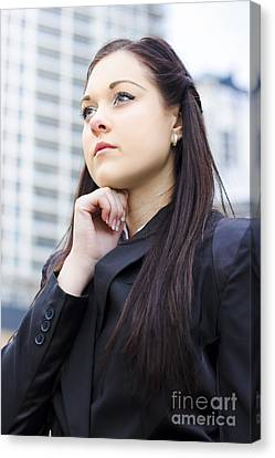 Young Business Woman With Grand Business Ideas Canvas Print by Jorgo Photography - Wall Art Gallery