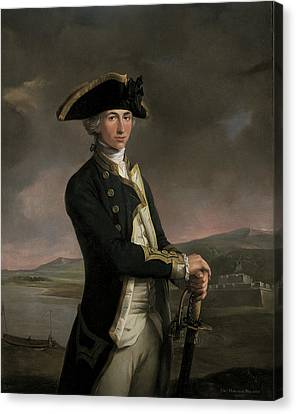 Young Captain Horatio Nelson Canvas Print by MotionAge Designs