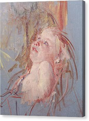 Young Child In Its Mother's Arms Canvas Print