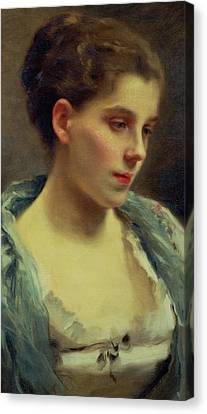 Young Dreamer Canvas Print by Gustave Jacquet