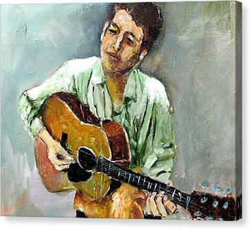 Young Dylan 1 Canvas Print by Udi Peled