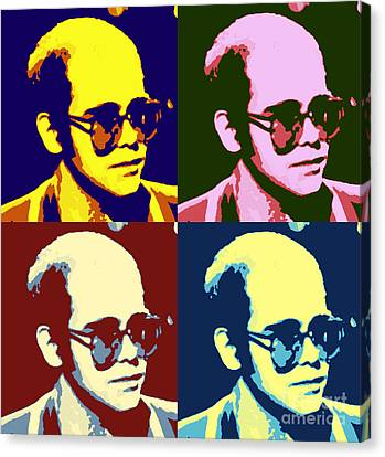 Young Elton John Pop Art Poster Canvas Print by Pd
