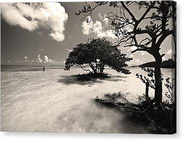 Young Fisherman - Anne's Beach - Florida Keys Canvas Print