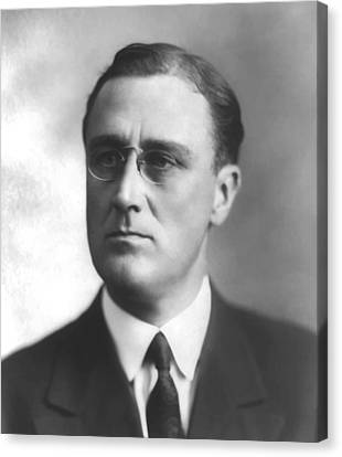 Young Franklin Delano Roosevelt Canvas Print by War Is Hell Store
