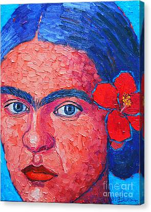Young Frida Kahlo Canvas Print by Ana Maria Edulescu