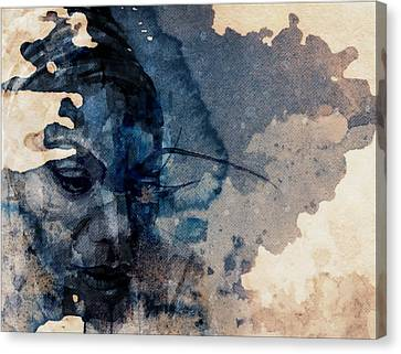 Canvas Print featuring the mixed media Young Gifted And Black - Nina Simone  by Paul Lovering