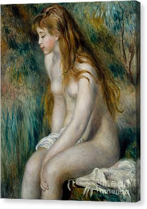 Young Girl Bathing, 1892 Canvas Print by Pierre Auguste Renoir