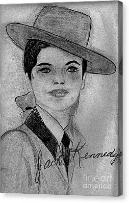 Young Jackie Kennedy Canvas Print by Sonya Chalmers