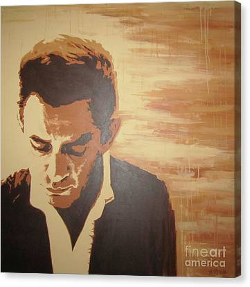 Young Johnny Cash Canvas Print