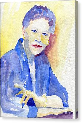 Chin On Hand Canvas Print - Young Lady by Joe Hagarty