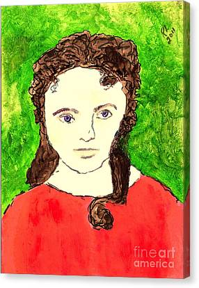 Young Liz Taylor 2 Canvas Print by Richard W Linford