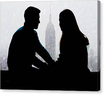 Canvas Print featuring the photograph Young Love     by Chris Lord