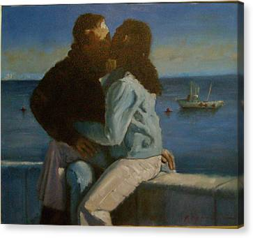 Young Love Canvas Print by John Reynolds