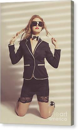 Young Magnificent Woman In Expensive Fashion Canvas Print by Jorgo Photography - Wall Art Gallery