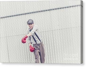 Young Male Boxer Throwing A Offensive Jab Canvas Print by Jorgo Photography - Wall Art Gallery