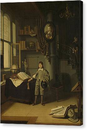 Young Man In A Study, 1650 Canvas Print