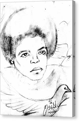Young Micheal Jackson  Canvas Print by HPrince De Artist