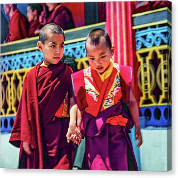 Young Monks - Buddies Canvas Print