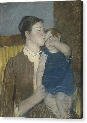 Youthful Canvas Print - Young Mother by Mary Stevenson Cassatt
