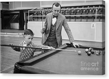 Ewing Canvas Print - Young Pocket Billiards Wizard, 1927 by Science Source