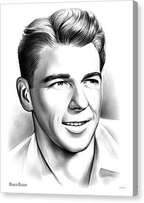 Young Reagan Canvas Print by Greg Joens