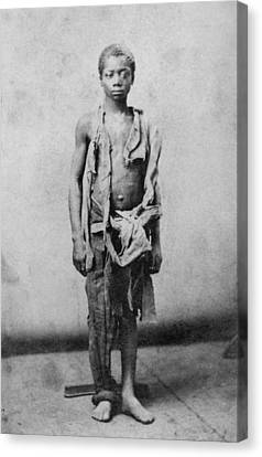 Young Slave During The Civil War Canvas Print by Everett