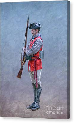 Canvas Print featuring the digital art Young Soldier With Rifle by Randy Steele