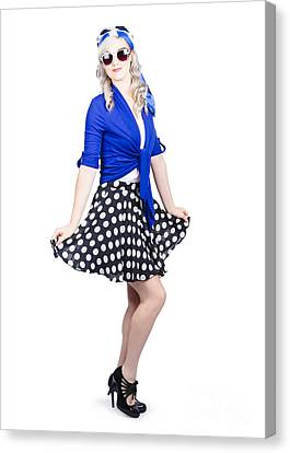 Full Skirt Canvas Print - Young Stylish Caucasian Woman Posing For Photo by Jorgo Photography - Wall Art Gallery