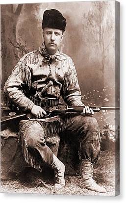 Young Theodore Roosevelt Dressed Canvas Print by Everett