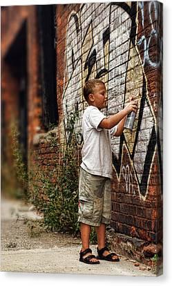Young Vandal Canvas Print by Gordon Dean II