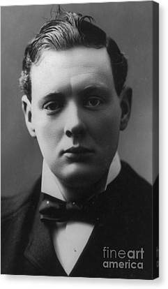 Prime Canvas Print - Young Winston Churchill by English School