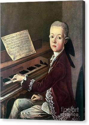 Young Wolfgang Amadeus Mozart Canvas Print by Science Source