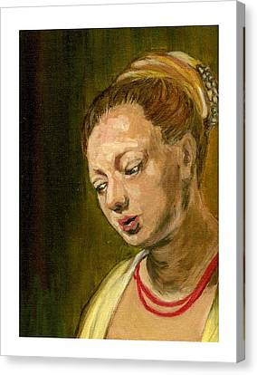 Young Woman Canvas Print by Asha Sudhaker Shenoy