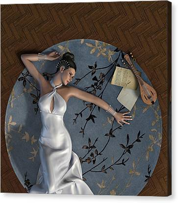 Young Woman Canvas Print by Fabiana Kofman