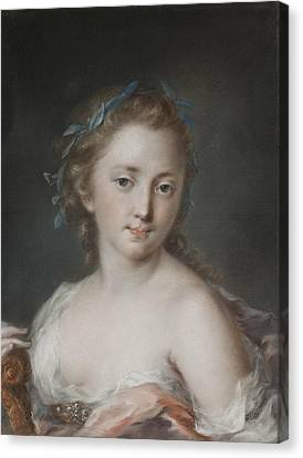 Young Woman With A Wreath Of Laurels Canvas Print by Rosalba Carriera