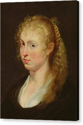 Peter Paul Rubens Canvas Print - Young Woman With Curly Hair by Rubens