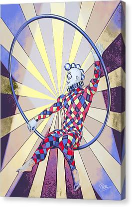 Younger Tightrope  Canvas Print by Quim Abella